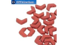 Chevron DUO korálky Chalk Lava Red (02010/01890) 10x4mm 10ks
