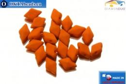 DiamonDuo dvoudírkové korálky hnědý matný 5x8mm, 20ks DD010