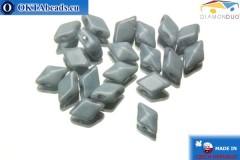 DiamonDuo бусины 2 отверстия серые глянцевые 5x8мм, 20шт DD020