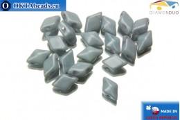 DiamonDuo dvoudírkové korálky šedý luster 5x8mm, 20ks DD020
