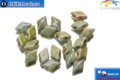 DiamonDuo бусины 2 отверстия серые травертин 5x8мм, 20шт DD021