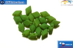 DiamonDuo 2-hole beads green matte 5x8mm, 20pc