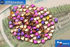 Dragon Scale Bead crystal lilac vitrail (00030/29500) 1,5x5mm, 5gr