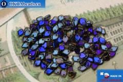 Dragon Scale Korálky čirý modrý vitrail (00030/22201) 1,5x5mm, 5gr MK0397