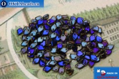 Dragon Scale Bead crystal blue vitrail (00030/22201) 1,5x5mm, 5gr MK0397