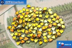Dragon Scale Bead crystal yellow vitrail (00030/28001) 1,5x5mm, 5gr