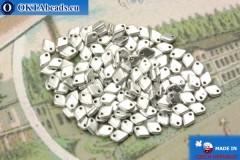 Dragon Scale Bead silver matte (01700) 1,5x5mm, 5gr