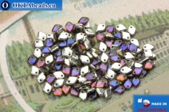 Dragon Scale Bead silver blue vitrail (00030/29636) 1,5x5mm, 5gr