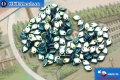 Dragon Scale Korálky modrý vitrail (23980/28703) 1,5x5mm, 5gr MK0418