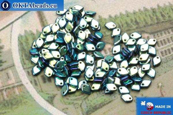 Dragon Scale Bead blue vitrail (23980/28703) 1,5x5mm, 5gr