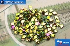 Dragon Scale бусины зеленый витраил (23980/28100) 1,5х5мм, 5гр