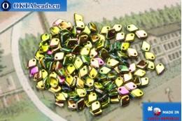 Dragon Scale бусины зеленый витраил (23980/28100) 1,5х5мм, 5гр MK0417