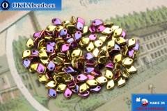 Dragon Scale бусины золото фиолетовый (23980/98545) 1,5х5мм, 5гр