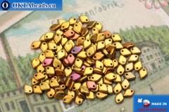 Dragon Scale бусины золото ирис матовый (01610) 1,5х5мм, 5гр