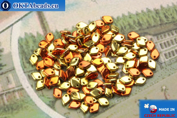 Dragon Scale Bead gold copper (00030/98542) 1,5x5mm, 5gr