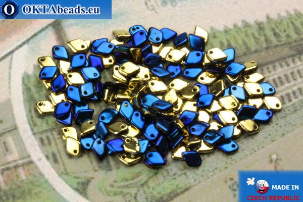 Dragon Scale бусины золото синий (23980/98548) 1,5х5мм, 5гр MK0420