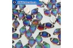 GemDuo beads Backlit Petroleum (00030/26601) 8x5mm 20pc MK0677