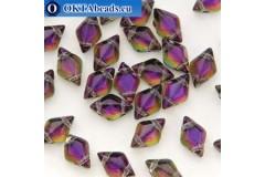 GemDuo korálky Backlit Purple Haze (00030/29532) 8x5mm 20ks