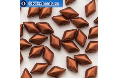 GemDuo korálky Bronze Fire Red (00030/01750) 8x5mm 20ks