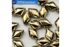 GemDuo beads Crystal Amber (00030/26441) 8x5mm 20pc MK0676