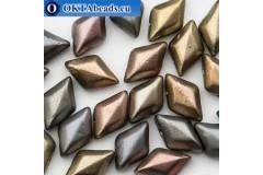 GemDuo beads Crystal Grey Rainbow (00030/01670) 8x5mm 20pc MK0670