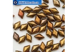 GemDuo beads Gold Rainbow (00030/01610) 8x5mm 20pc MK0668