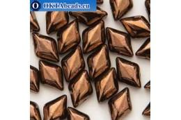 GemDuo beads Jet Bronze (23980/14415) 8x5mm 20pc