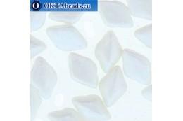 GemDuo beads Pearl Shine White (02010/24001) 8x5mm 20pc