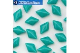 GemDuo бусины Turquoise Green Opaque (63130) 8х5мм 20шт