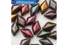 GemDuo beads Violet Rainbow (00030/01640) 8x5mm 20pc MK0669