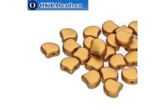Ginko beads Bronze Gold (00030/01740) 7,5mm 20pc