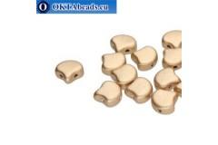 Ginko beads Bronze Pale Gold (00030/01710) 7,5mm 20pc