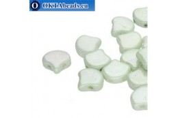 Ginko beads Chalk Green Luster (03000/14457) 7,5mm 20pc MK0643