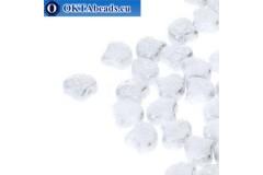 Ginko бусины Chalk Silver Splash (03000/15481) 7,5мм 20шт