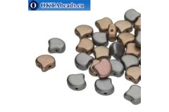 Ginko beads Crystal Grey Rainbow (00030/01670) 7,5mm 20pc