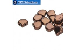 Ginko beads Jet Bronze (23980/14415) 7,5mm 20pc