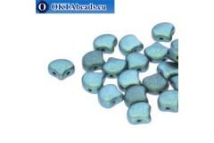 Ginko beads Polychrome Mint Chocolate (23980/94104) 7,5mm 20pc