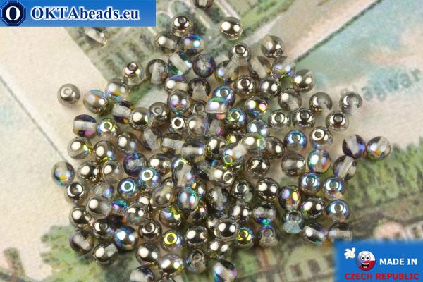 Круглые чешские бусины кристалл серебро витраил (00030-98537) 4мм, 10гр MK0544