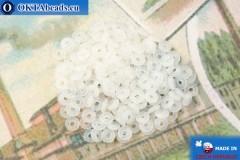 О-ринг Бусины белый опал (02010) 1х3,8мм, 5гр, MK0467