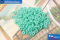 O-Ring Beads turquoise matte (M63130) 1x3,8mm, 5g