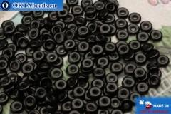 О-ринг Бусины черные (23980) 1х3,8мм, 5гр