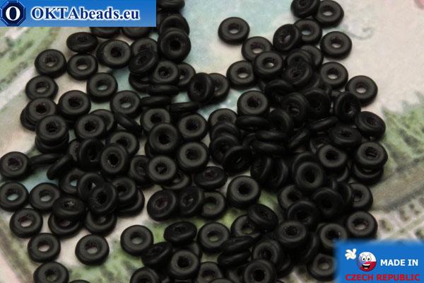 O-Ring Beads black matte (M23980) 1x3,8mm, 5g MK0206