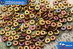O-Ring Beads metallic iris matte (01640WH) 1x3,8mm, 5g