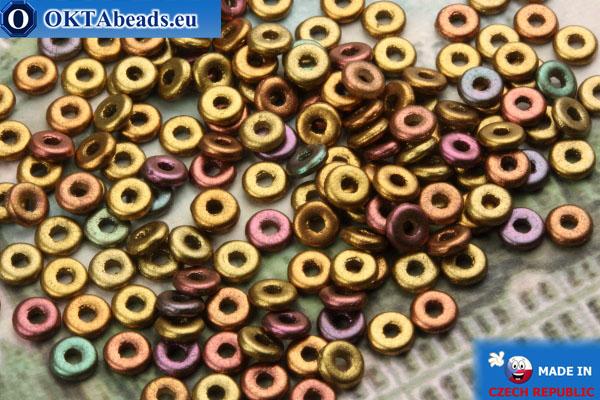 O-Ring Beads metallic iris matte (01640WH) 1x3,8mm, 5g MK0203
