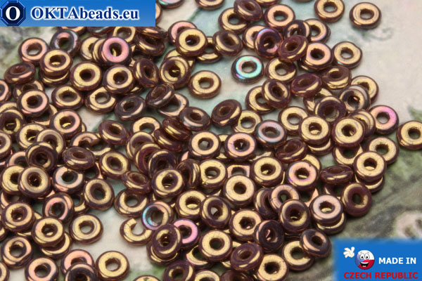 O-Ring Korálky růžový zlatý lesk (LH74020) 1x3,8mm, 5g