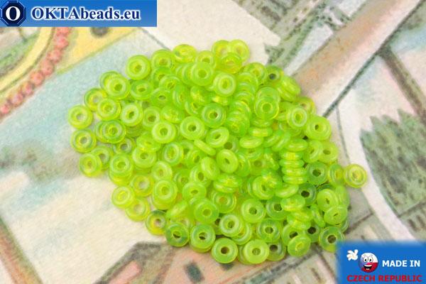О-ринг Бусины салатовый опал (51010) 1х3,8мм, 5гр MK0465