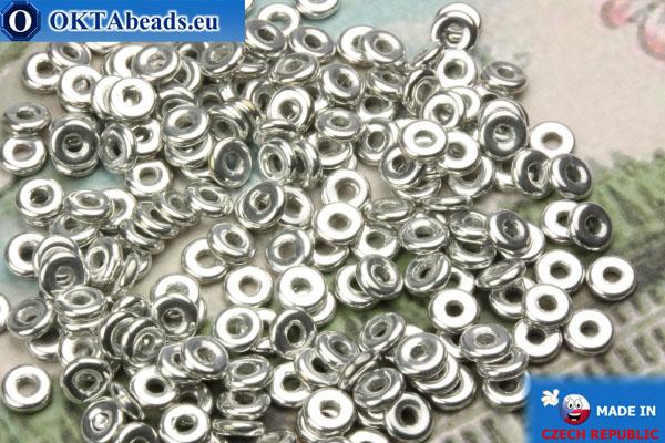 O-Ring Beads silver (27000CR) 1x3,8mm, 5g MK0216