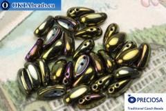 2-hole Preciosa Chilli Beads iris (23980/21495) 4x11mm, 30pc