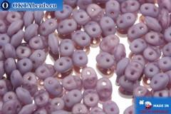 Superduo alabastr fialový matný (21010/84110) 2,5x5mm, 10g
