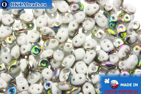 Superduo bílý AB (V03000) 2,5x5mm, 10g SD044